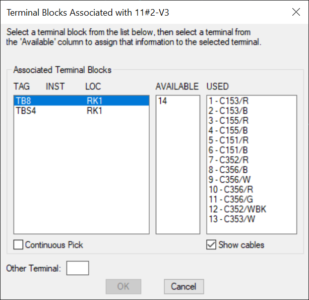 Make Terminal Assignments of the Holt Design Tools for AutoCAD Electrical